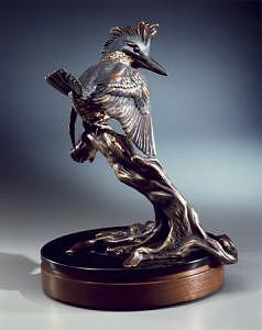 Wildlife Sculpture - Avian Angler by Mary Driscoll