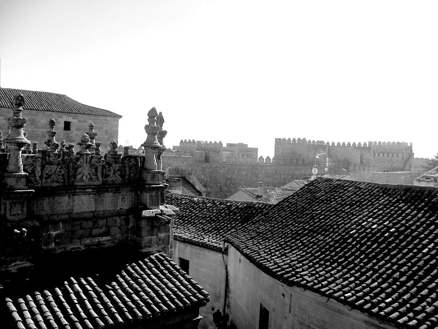 Architecture Photograph - Avila Rooftops by Halle Treanor