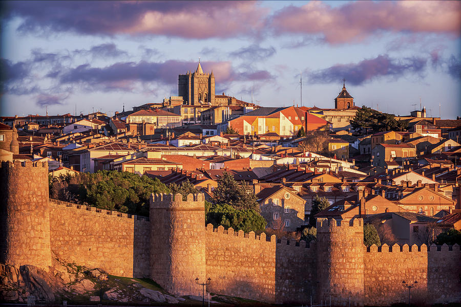 Avila Spain Late Afternoon Vintage Photograph by Joan Carroll
