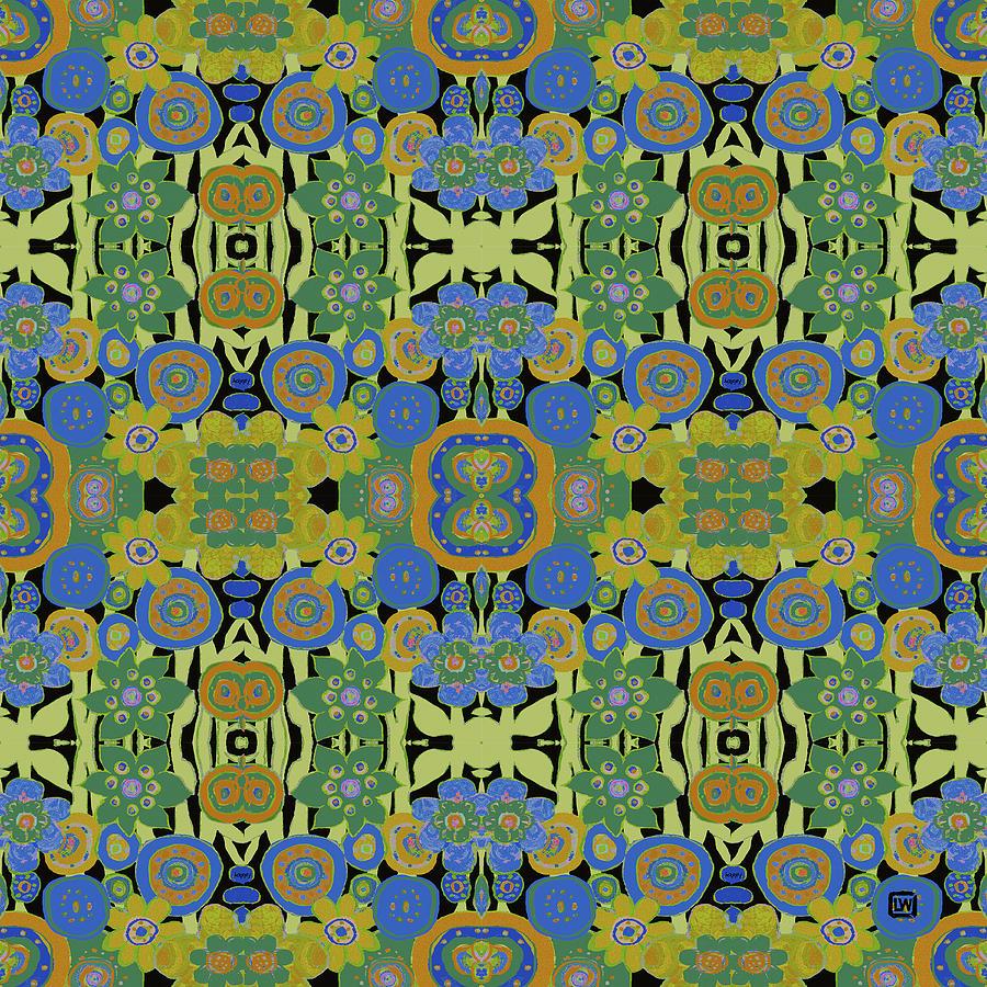 Avocado Blue Pattern by Lisa Weedn