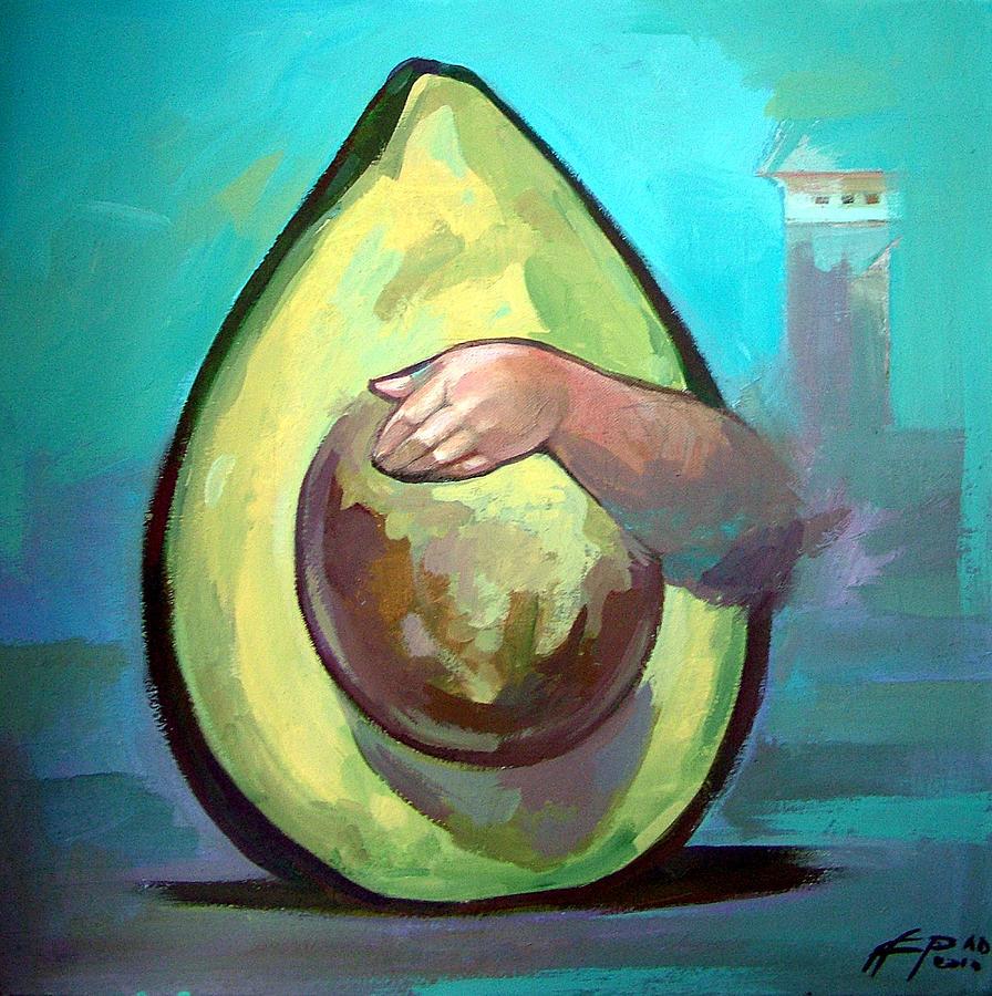 Avocado Painting - Avocado by Filip Mihail