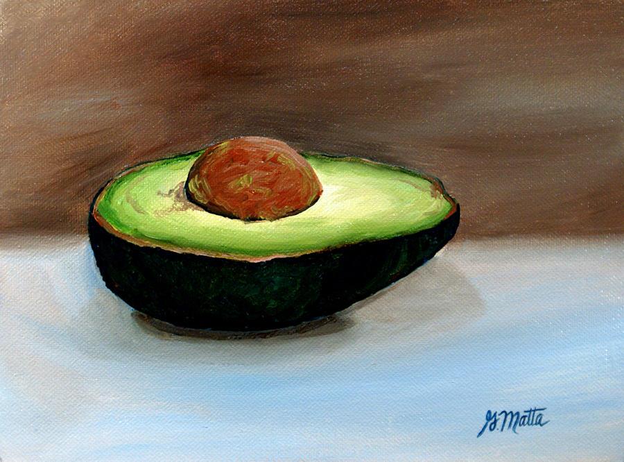 Avocado Painting - Avocado by Gretchen Matta