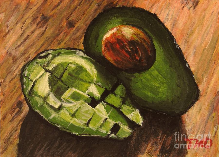 Avocado Painting - Avocado by Tina M Dimas