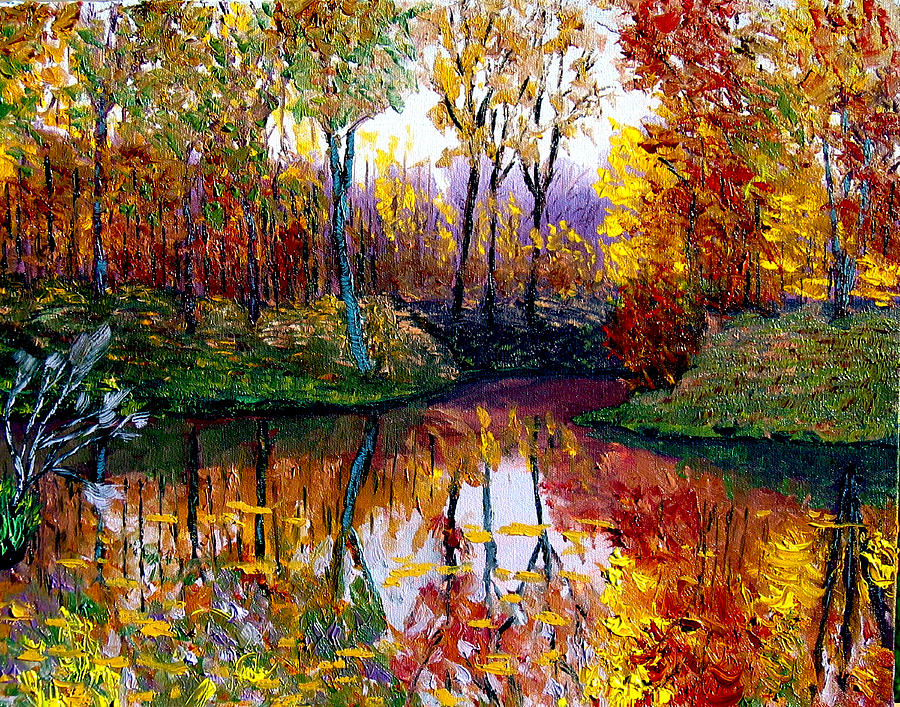 Lake Painting - Avon by Stan Hamilton