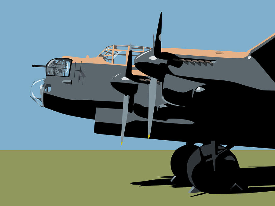 Avro Digital Art - Avro Lancaster Bomber by Michael Tompsett