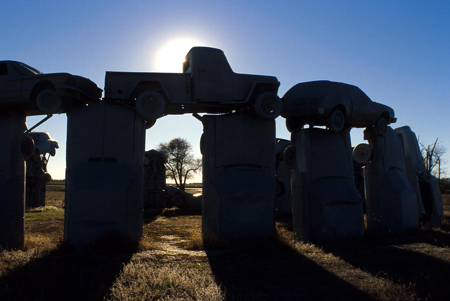 Car Henge Photograph - Awaiting The Aliens by Jerry McElroy