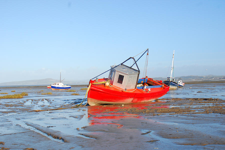 Sand Photograph - Awaiting The Tide by Peter Jenkins