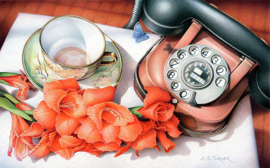 Awaiting Your Call Drawing