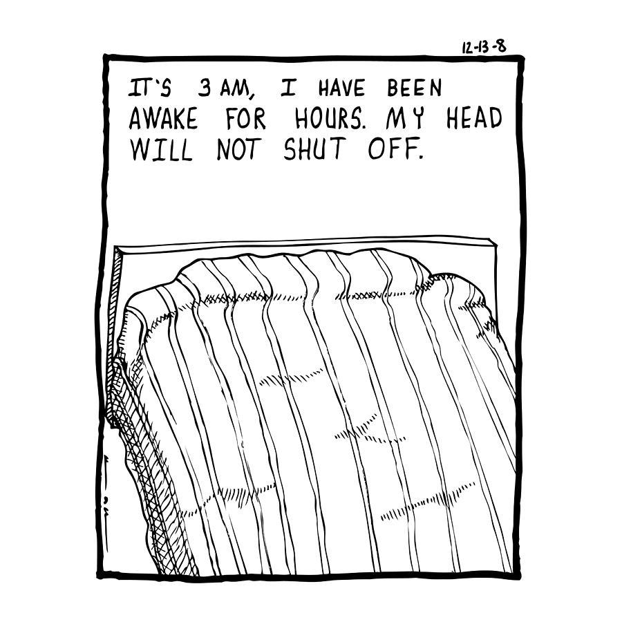 Drawing Drawing - Awake Comic by Karl Addison