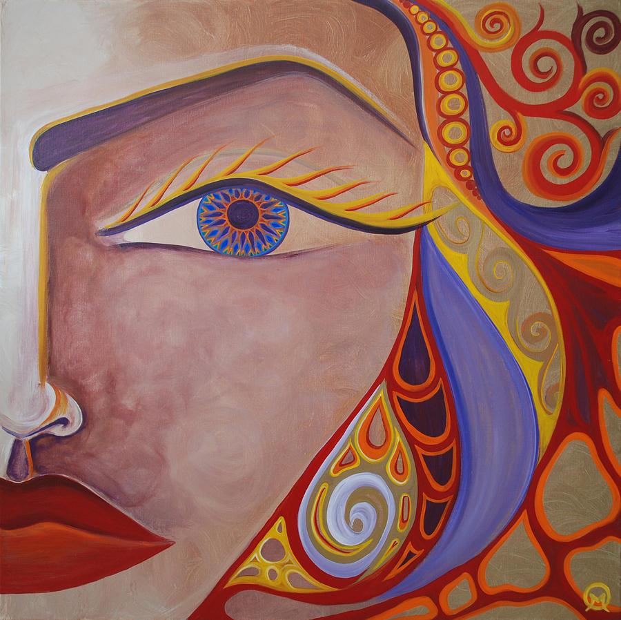 Woman Painting - Awake by Michelle Oravitz