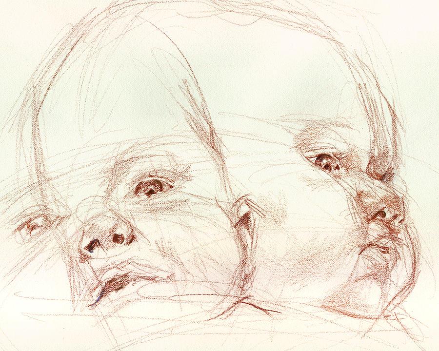 Portrait Drawing - Awake by Sarah Madsen