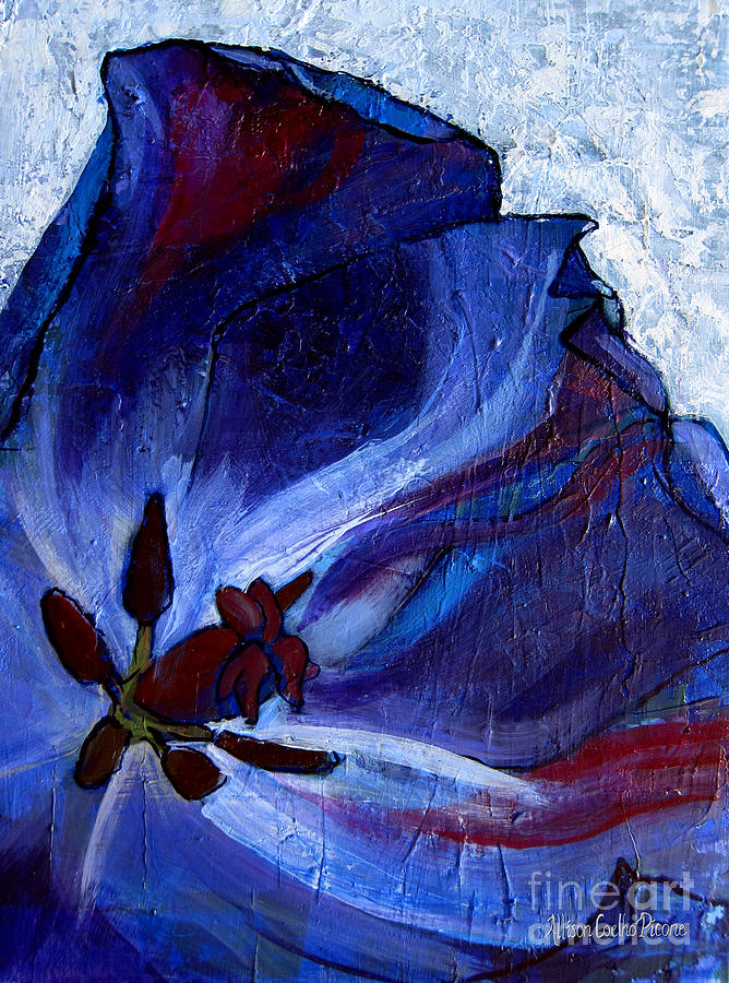 Tulip Painting - Awakening by Allison Coelho Picone