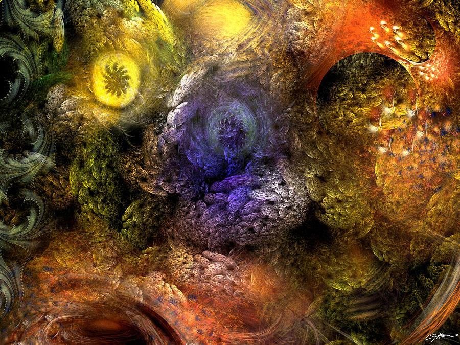 Abstract Digital Art - Awakening by Casey Kotas