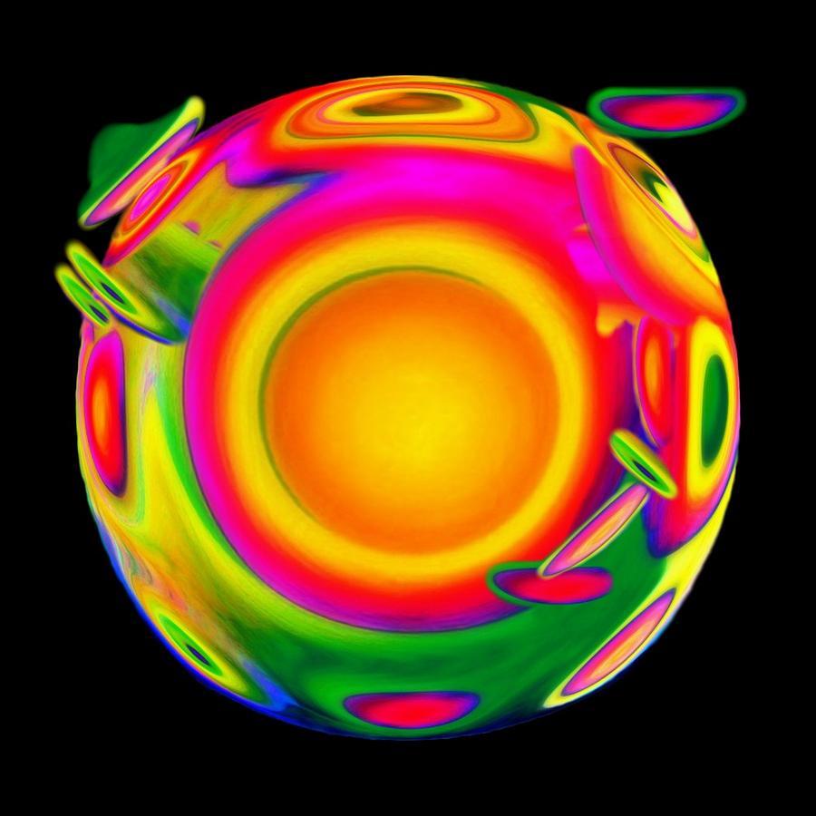 Sphere Mixed Media - Awakening by Jacqueline Migell