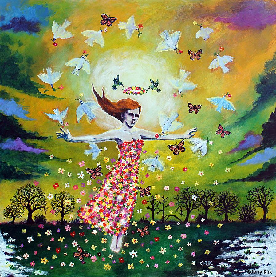 Painting Painting - Awakening by Jerry Kirk