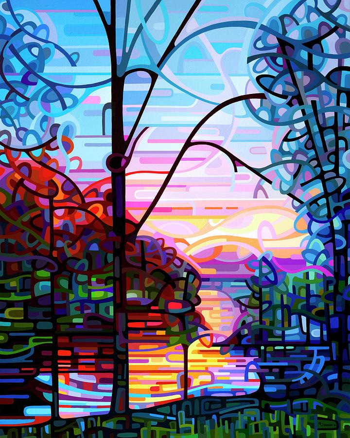 Landscape Painting - Awakening by Mandy Budan