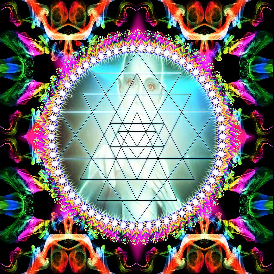 Awakening Digital Art - Awakening Of Sri Yantra by The Awakening Art