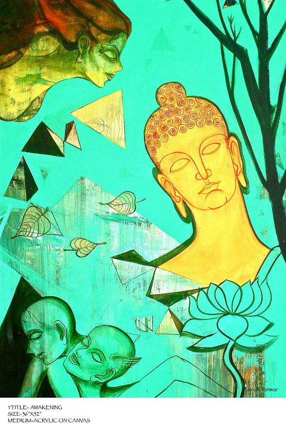 Awakening Painting by Rajesh Kumar Tanwar