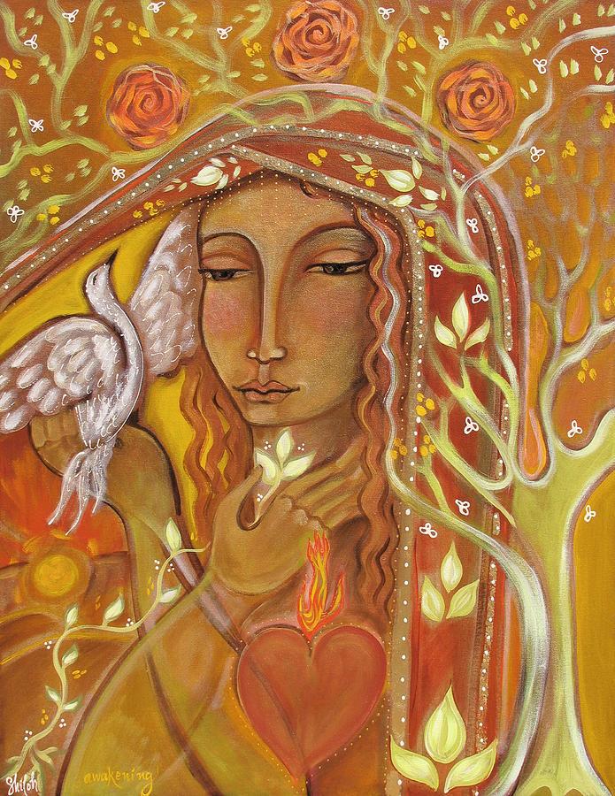 Awakening Painting - Awakening by Shiloh Sophia McCloud
