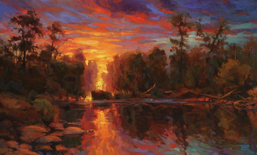 Landscape Painting - Awakening by Steve Henderson