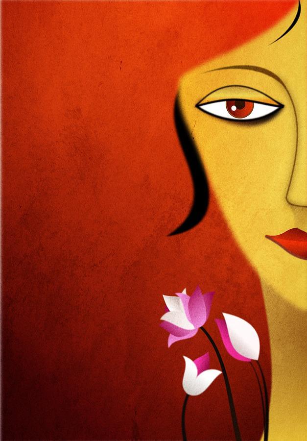 Woman Digital Art - Awakening by Surabhi Ahuja