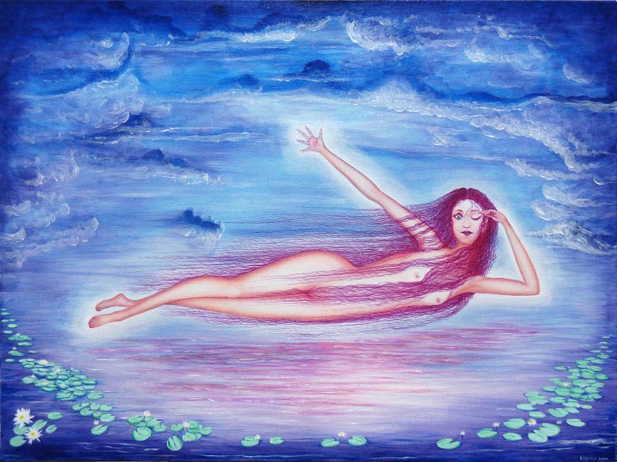 Goddess Painting - Awakening  by Tom Hefko