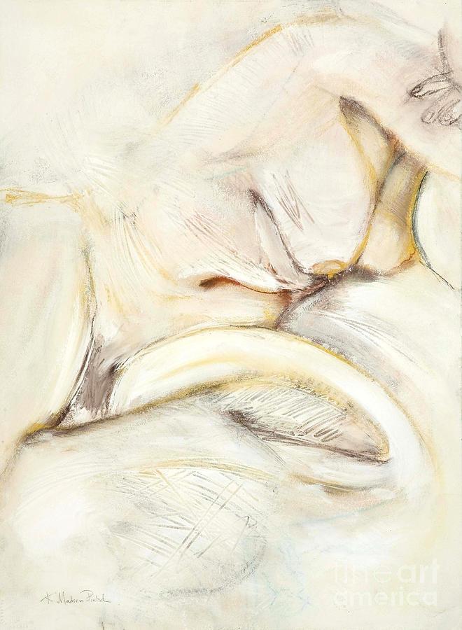 Female Drawing - Award Winning Abstract Nude by Kerryn Madsen-Pietsch