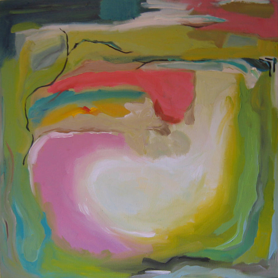 Abstract Painting - Awarness Of Light A.k.a. A Place Of Peace by Farin MEMA Greer