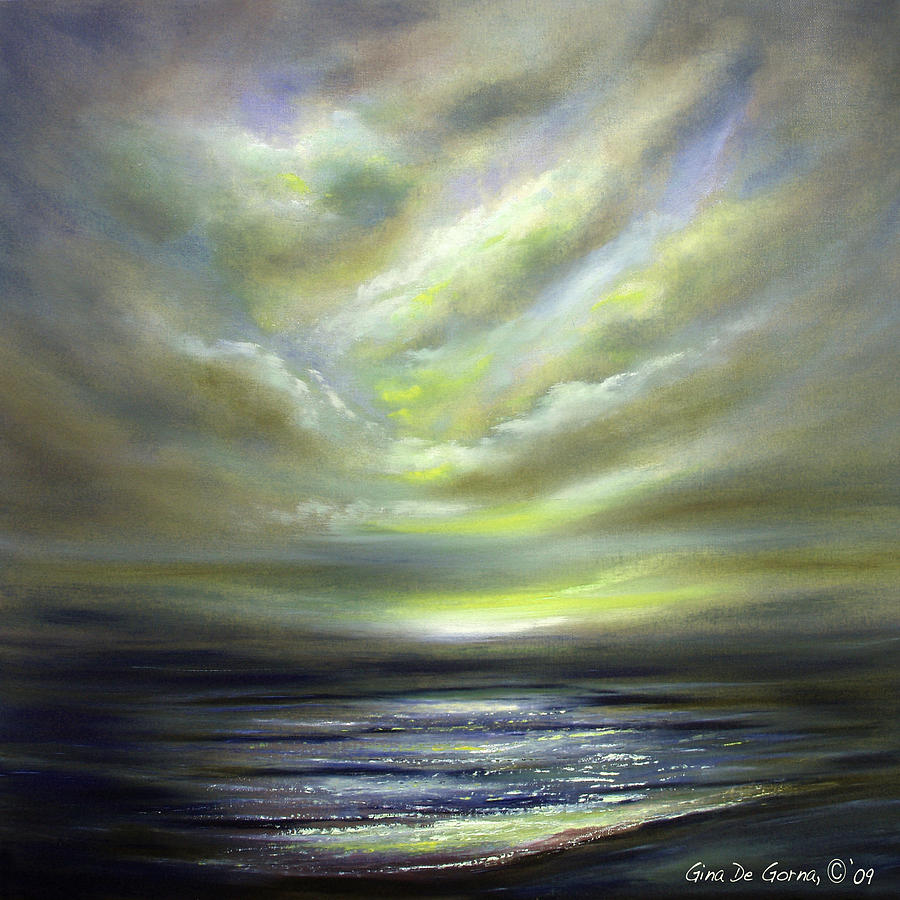 Sunset Painting - Away 2 by Gina De Gorna