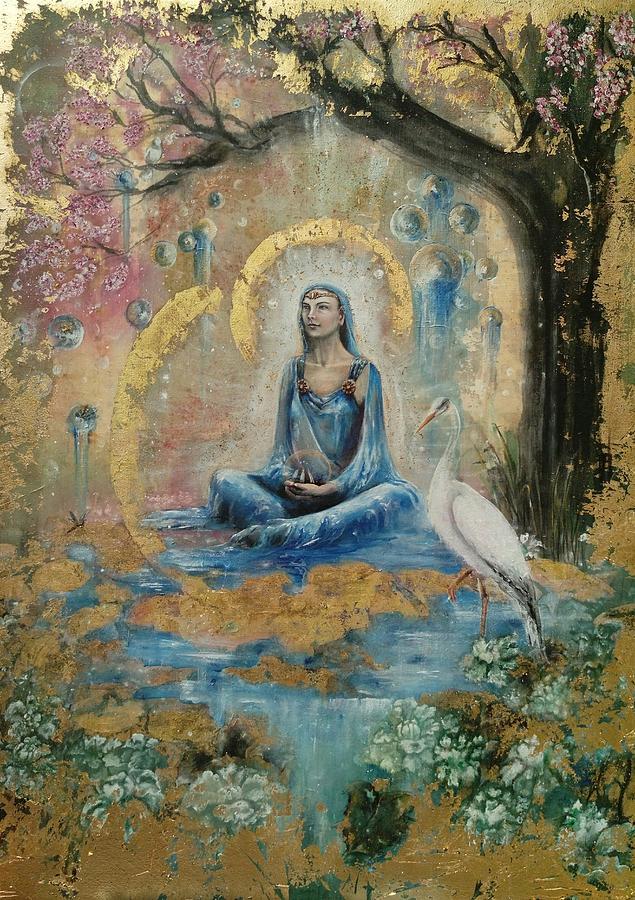 Alchemy Painting - Awen  by Silk Alchemy