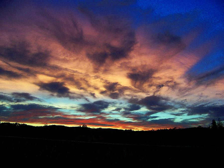 Sunset Photograph - Awesome Sunset by Terry Jones