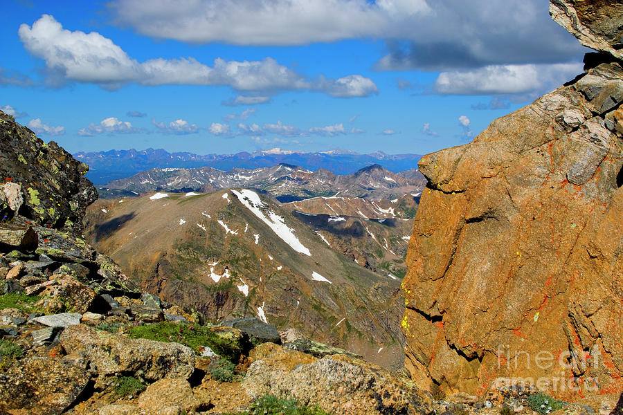 Awesome View From The Mount Massive Summit Photograph