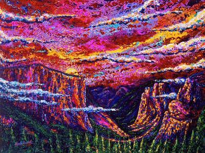 National Park Painting - Awesome Yosemite by Max R Scharf
