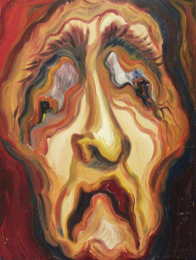 Self Portrait Painting - Awful Life by Suzanne  Marie Leclair