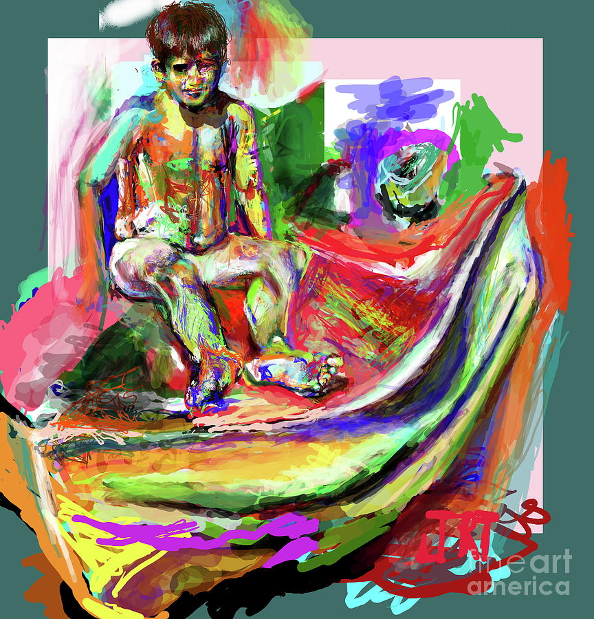 Teenage Boy Digital Art - Awkward Boy Awkward Boy by James Thomas