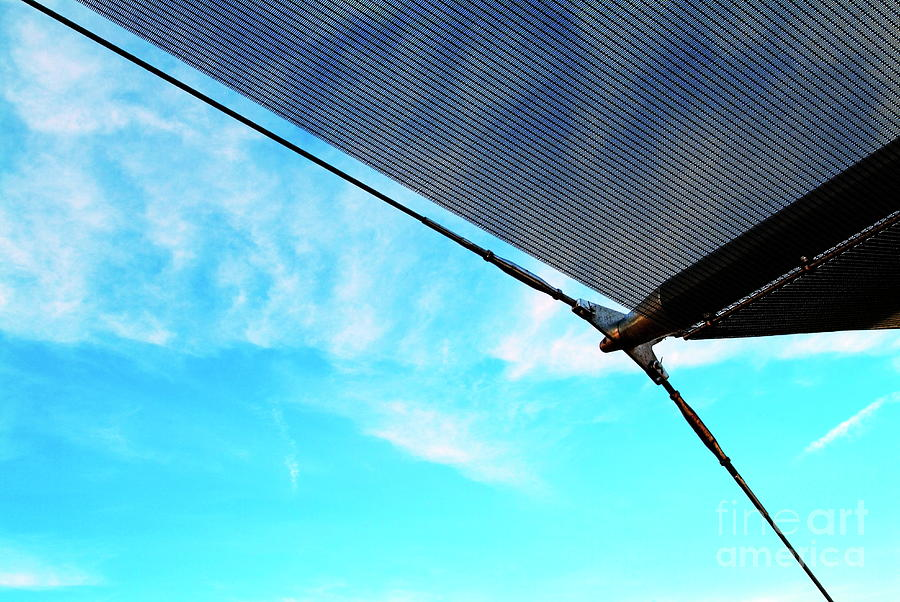 Awning Photograph - Awning Above A Wharf In Marseille by Sami Sarkis