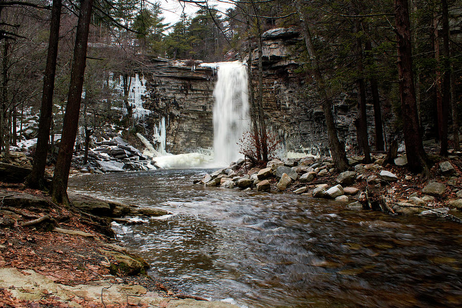 Waterfall Photograph - Awosting Falls In January #2 by Jeff Severson