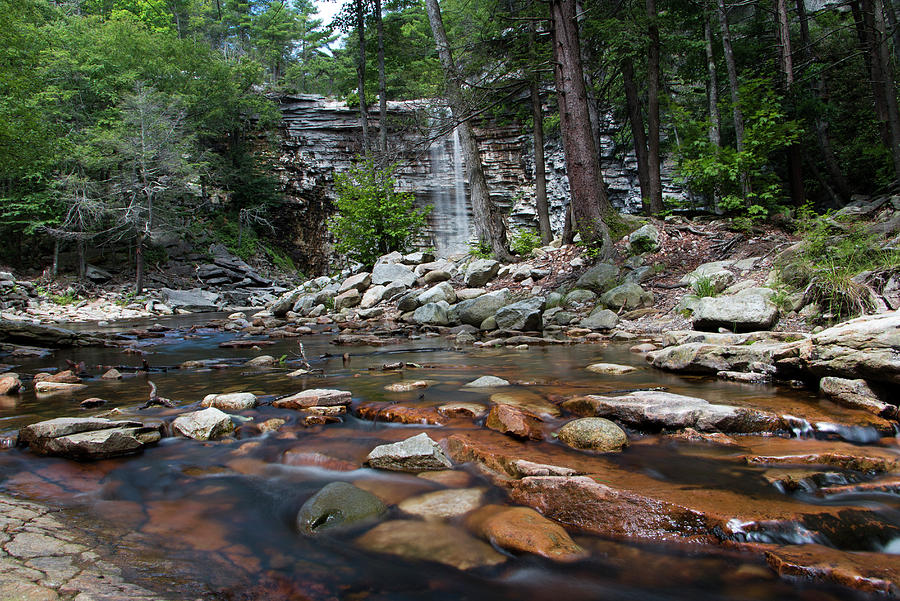 Waterfall Photograph - Awosting Falls In July Iv by Jeff Severson