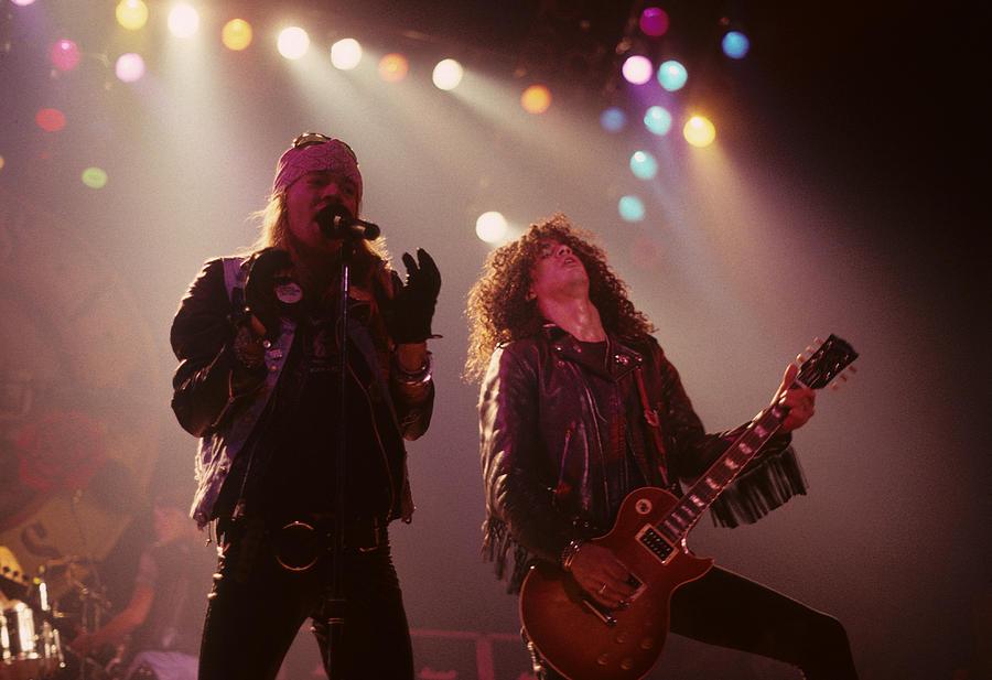 Axl Rose And Slash Photograph - Axl Rose And Slash by Rich Fuscia