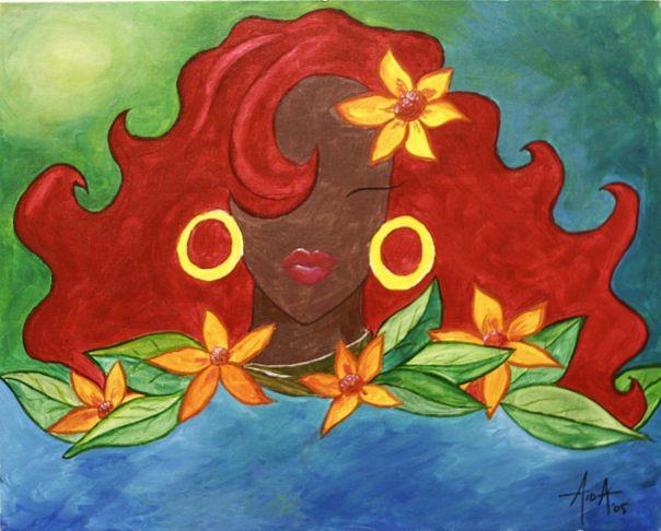 Tropical Painting - Ay Mami by Aida Correa