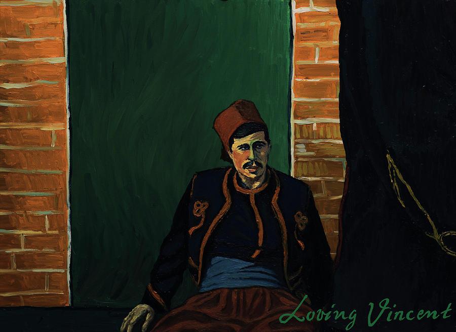 Ay Sir Painting by Natasa Efstathiadi