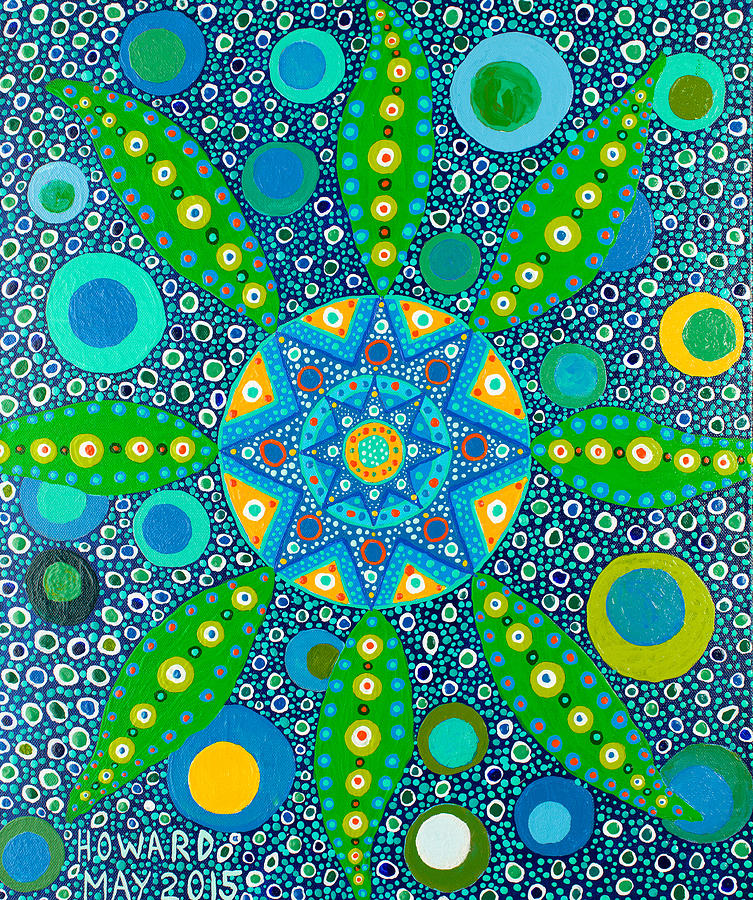 Plant Painting - Ayahuasca Vision - Inside The Plant Cell  May 2015 by Howard Charing