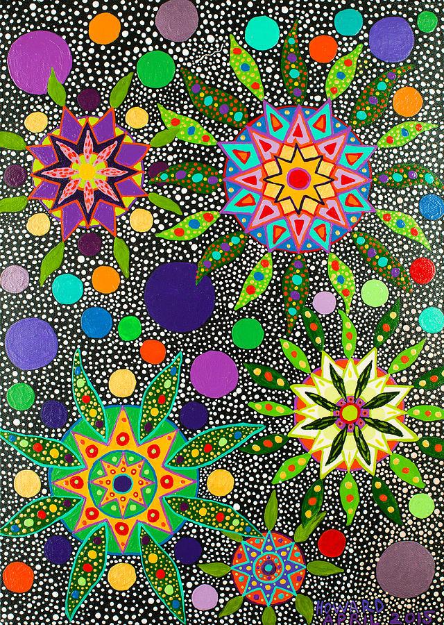 Visionary Painting - Ayahuasca Vision May 2015 by Howard G Charing