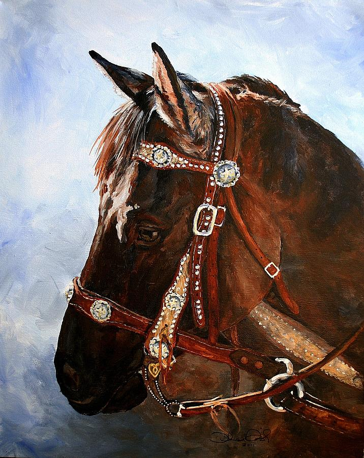Western Painting - Ayla by Theresa Higby