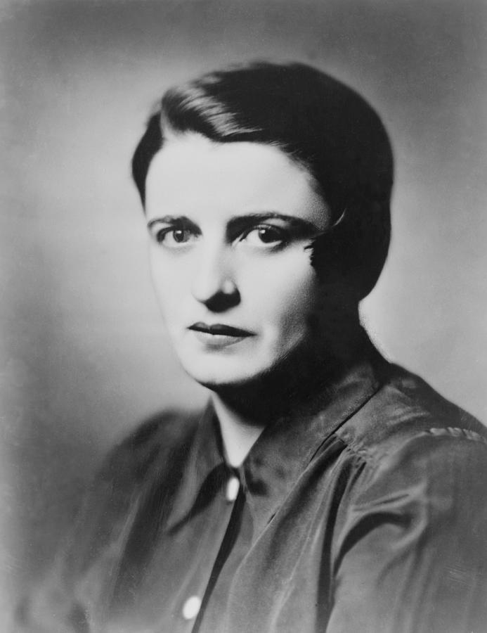 History Photograph - Ayn Rand 1905-1982 Russian Born by Everett