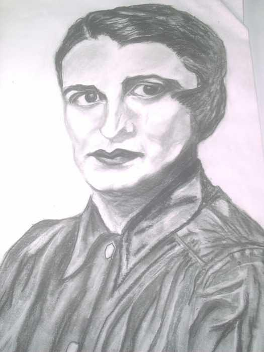 Ayn Rand Painting - Ayn Rand by Nancy Caccioppo