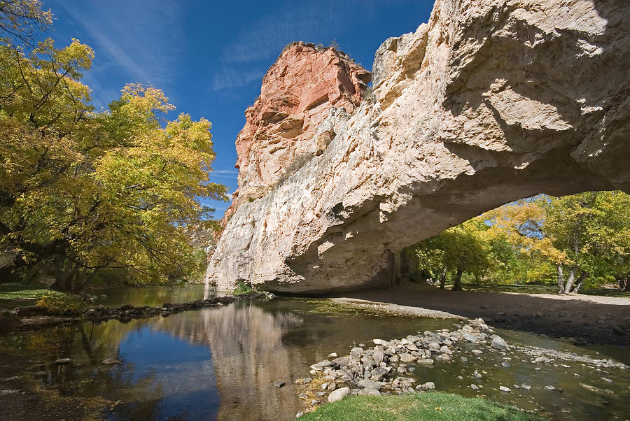 State Park Photograph - Ayres Natural Bridge by Mary Lane