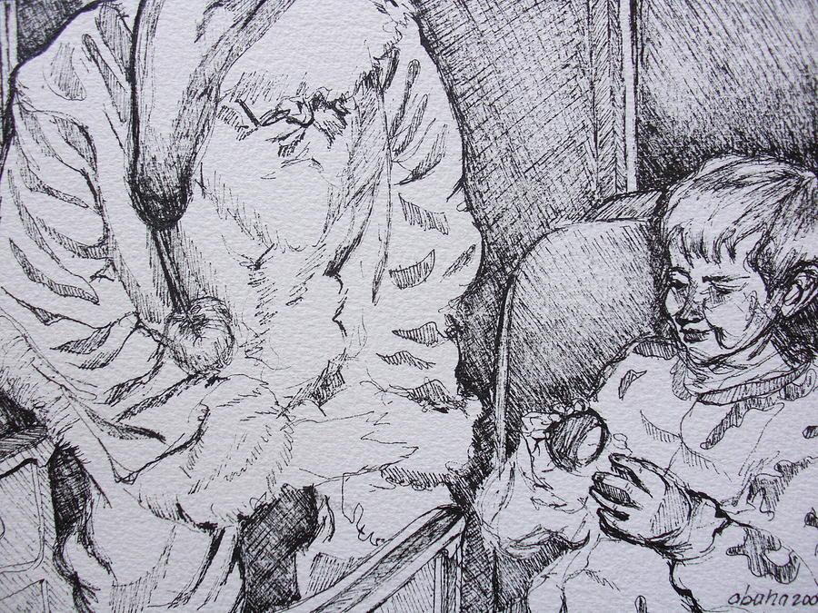Holidays Drawing - Az Polar Express by Aleksandra Buha