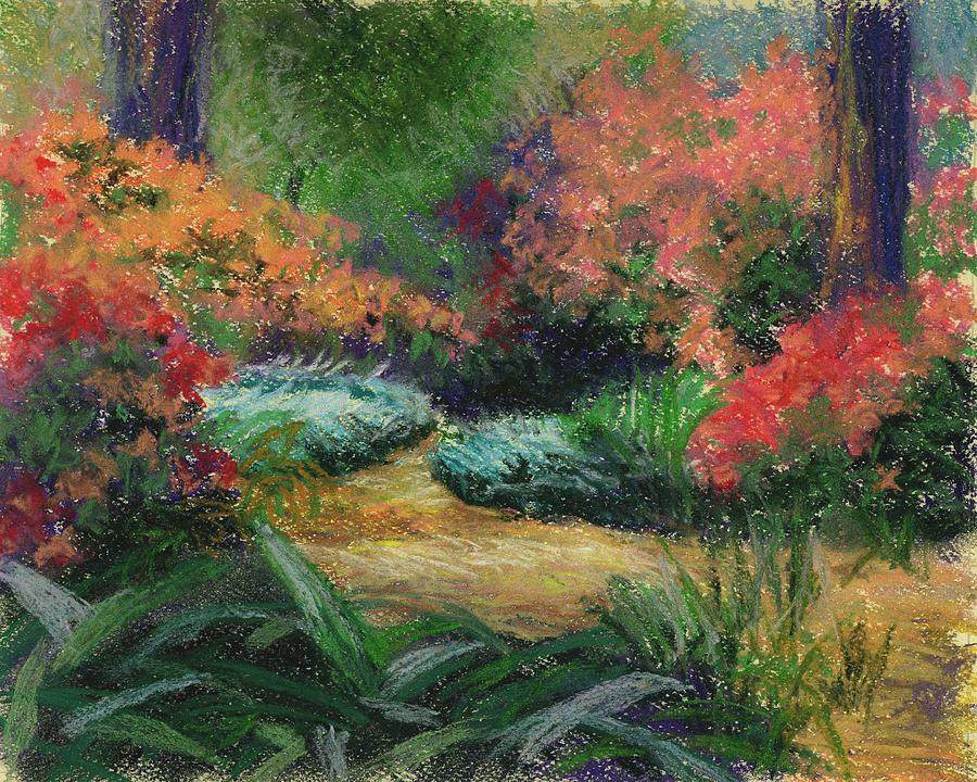 Florida Landscape Painting - Azalea Park by Diane Martens