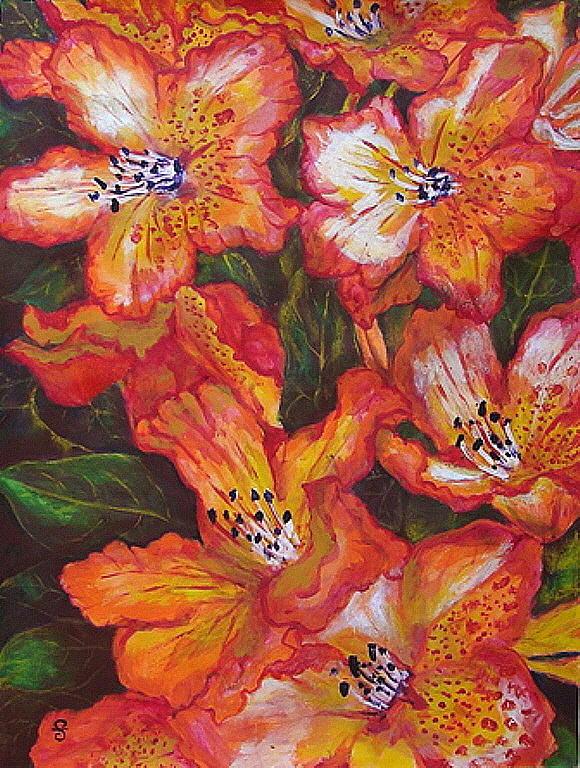 Azalea Painting - Azalea by Silvia Gold